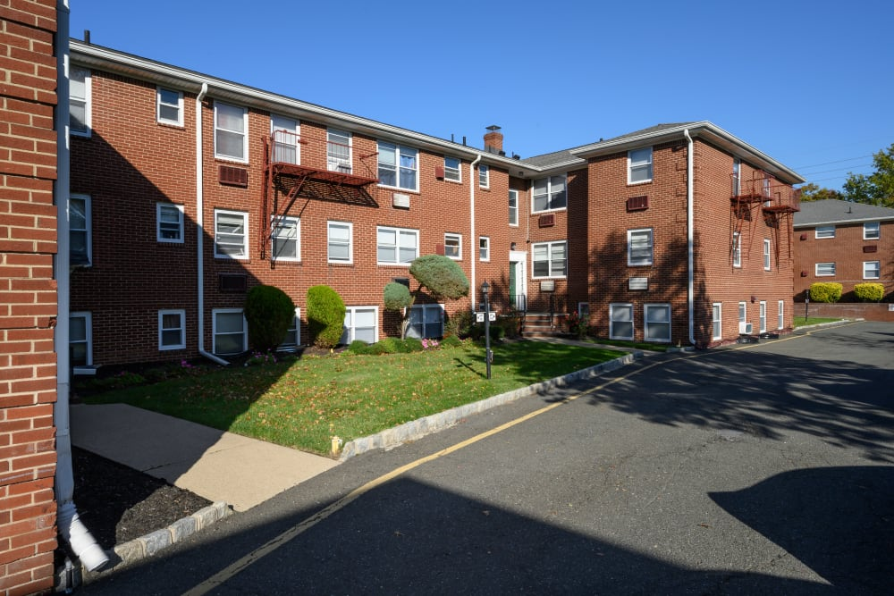 Exterior pretty lawn at Lafayette Park Apartments in Hawthorne, New Jersey