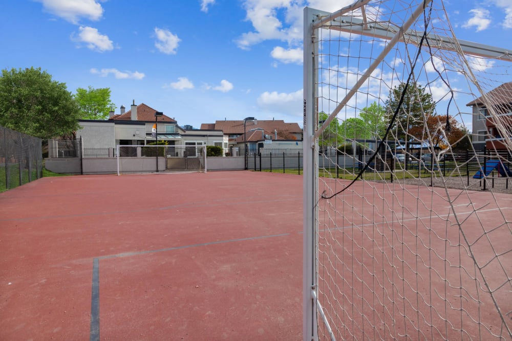 Soccer court at Shadowbrook Apartments in West Valley City, Utah