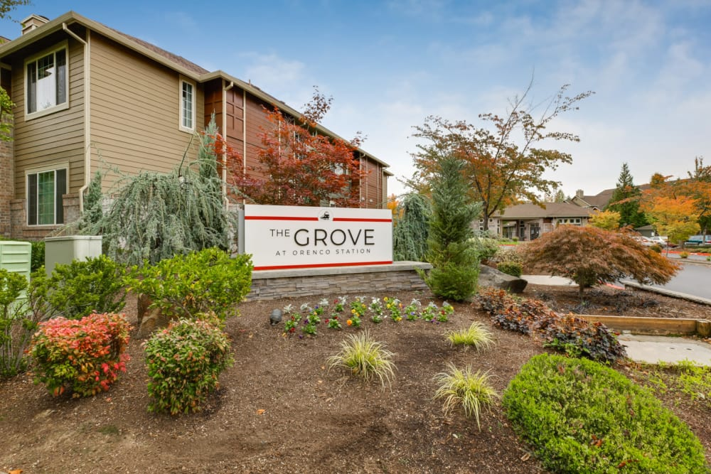 Garages for your convenience at The Grove at Orenco Station in Hillsboro, Oregon
