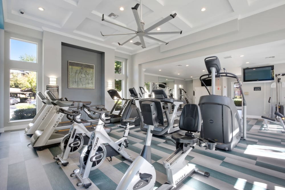 Fitness center with plenty of individual workout stations at Miramonte and Trovas in Sacramento, California