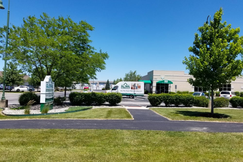 Exterior of our facility at Global Self Storage in McCordsville, Indiana