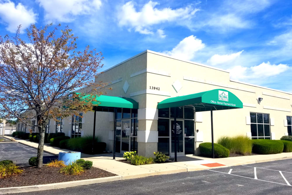 Outside our facility at Global Self Storage in McCordsville, Indiana