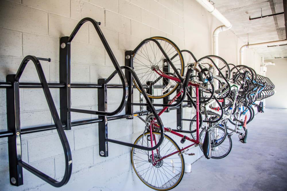 Bike storage and wash station at 511 Meeting in Charleston, South Carolina