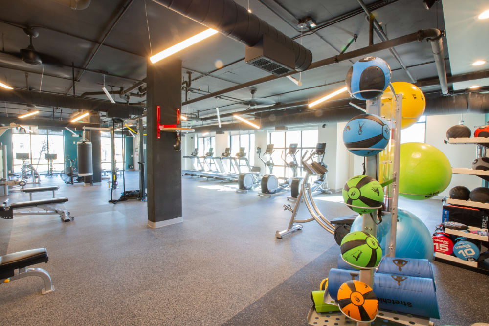 Fully equipped fitness center at 511 Meeting in Charleston, South Carolina