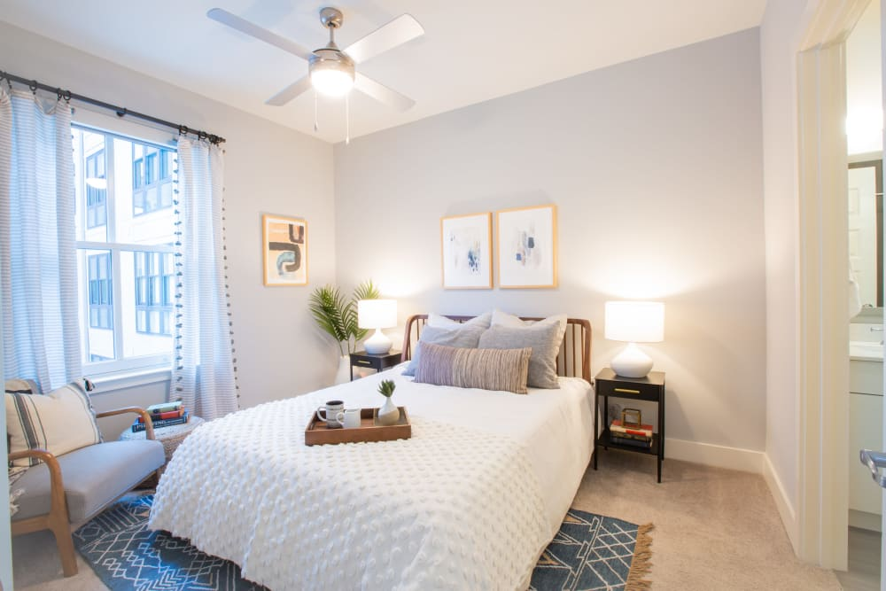 Bright well decorated bedroom with a view at 511 Meeting in Charleston, South Carolina