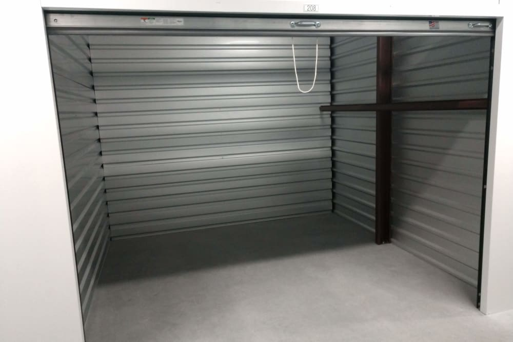 Interior of a storage unit at Global Self Storage in Millbrook, New York