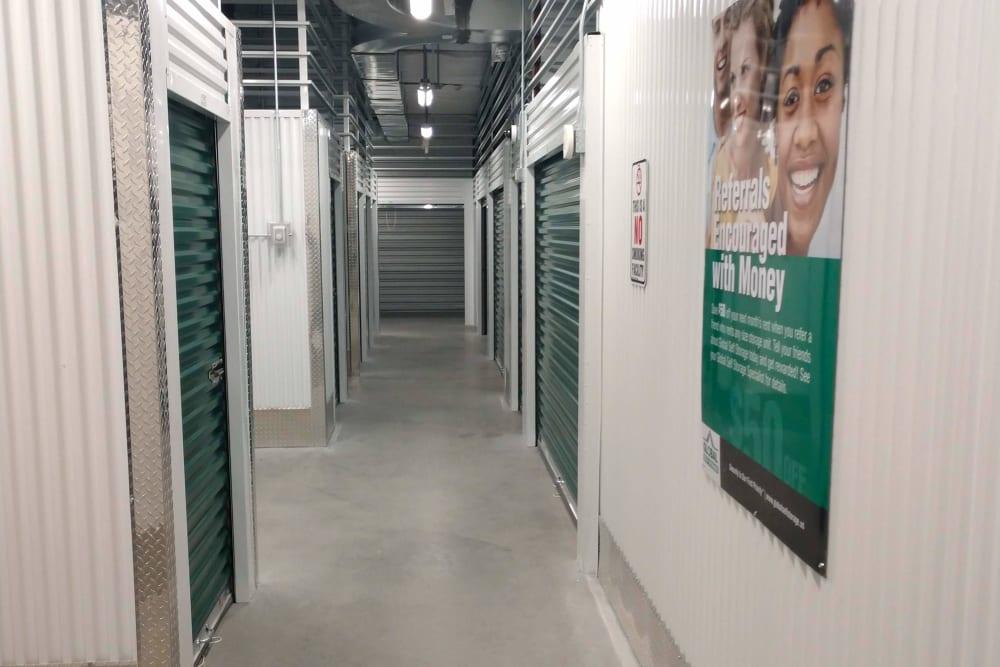 Interior hallway at Global Self Storage in Millbrook, New York