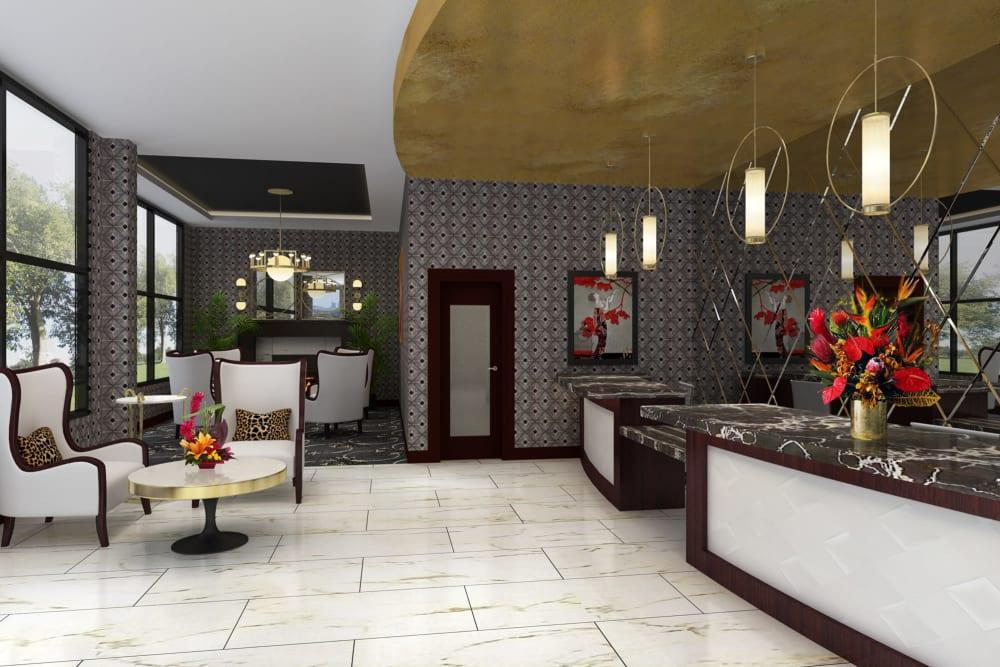Lobby area at The Vista in Esquimalt, British Columbia