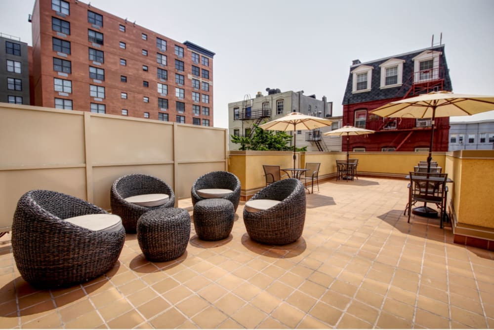 Terrace at ONE23 Apartments in Union City, New Jersey