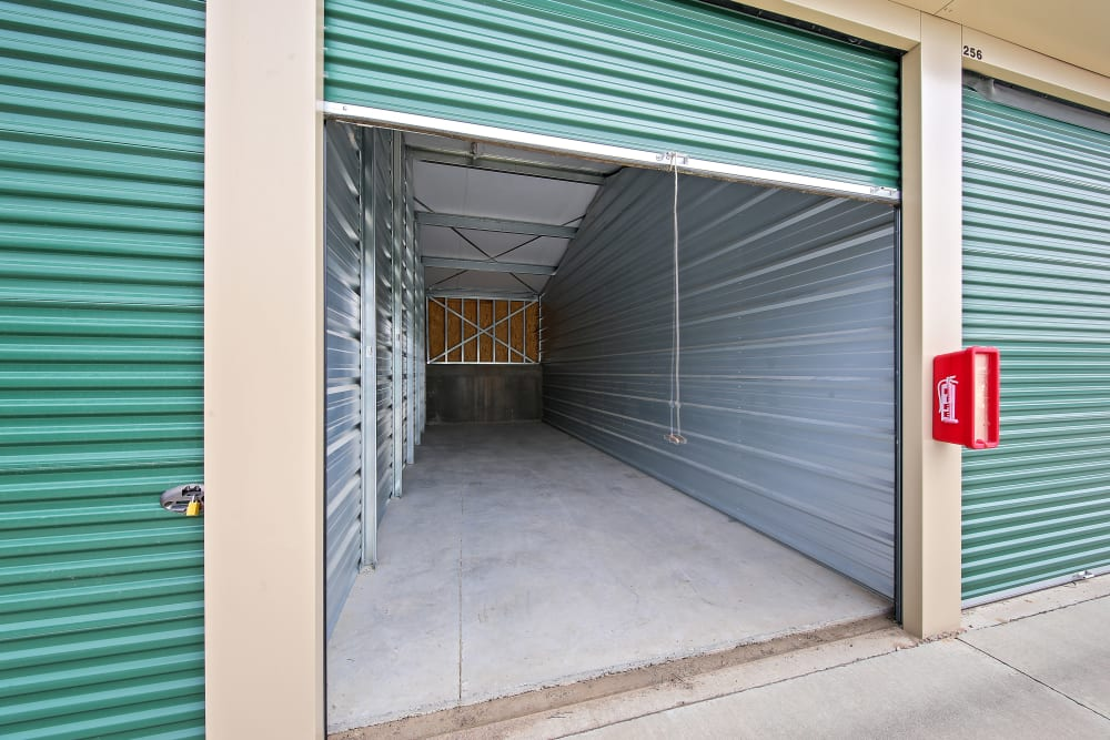 An open climate controlled unit at Storage Star Sheridan in Sheridan, Wyoming