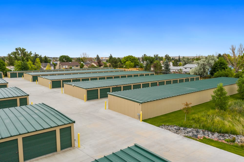Exterior of outdoor units at Storage Star Sheridan in Sheridan, Wyoming