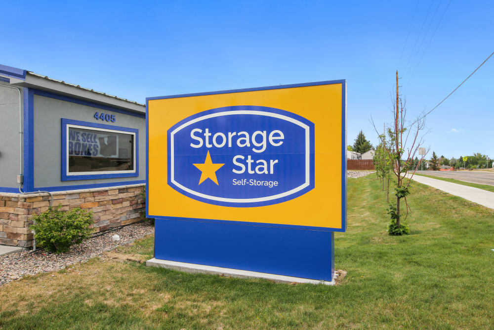 Branding and signage at Storage Star Sheridan in Sheridan, Wyoming
