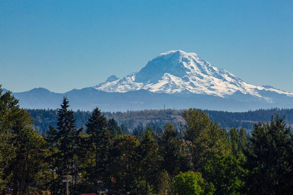 View of Mount Rainier from The Verge in Auburn, Washington