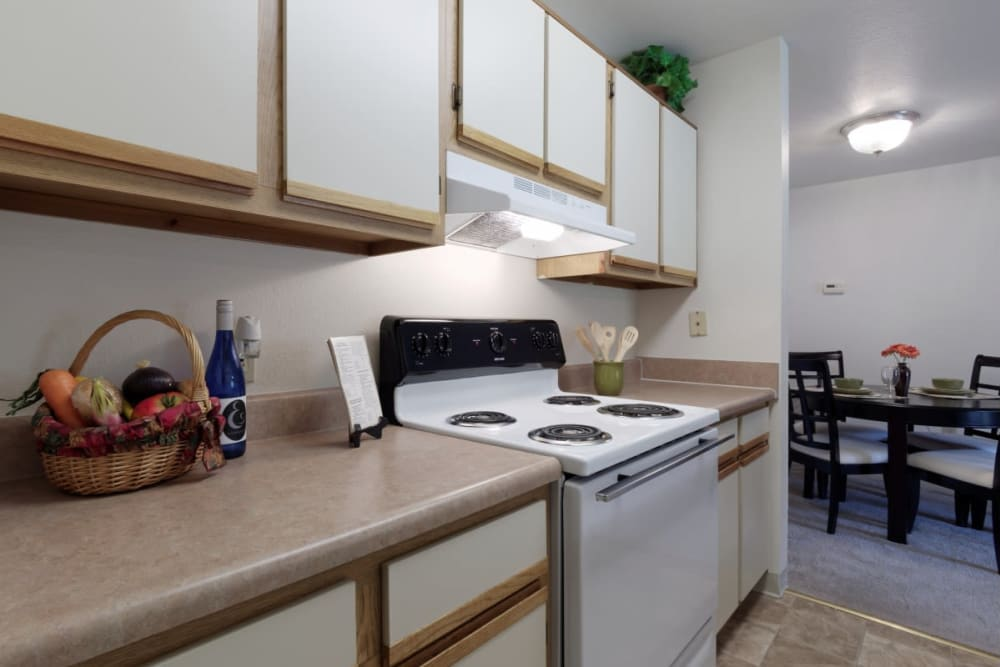 Bright kitchen at The Meadows at Elk Creek in Elkton, Maryland