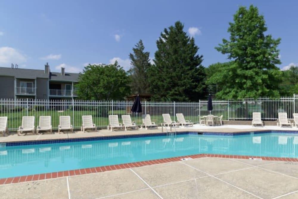 Resort style pool at The Meadows at Elk Creek in Elkton, Maryland