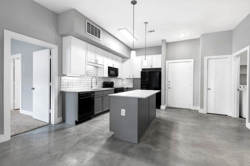 Model kitchen at Residences at The Triangle in Austin, Texas