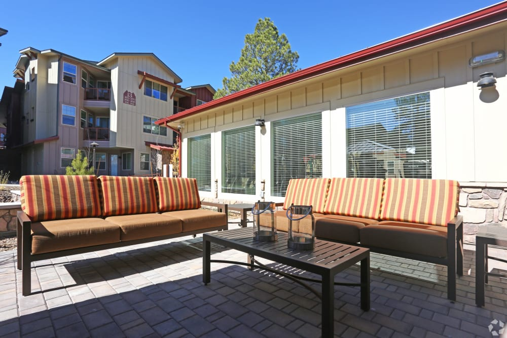 Resident porch at Mountain Trail in Flagstaff, Arizona