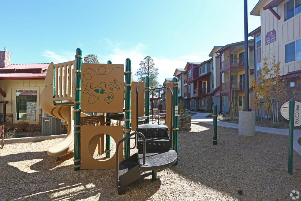 Huge resident playground at Mountain Trail in Flagstaff, Arizona