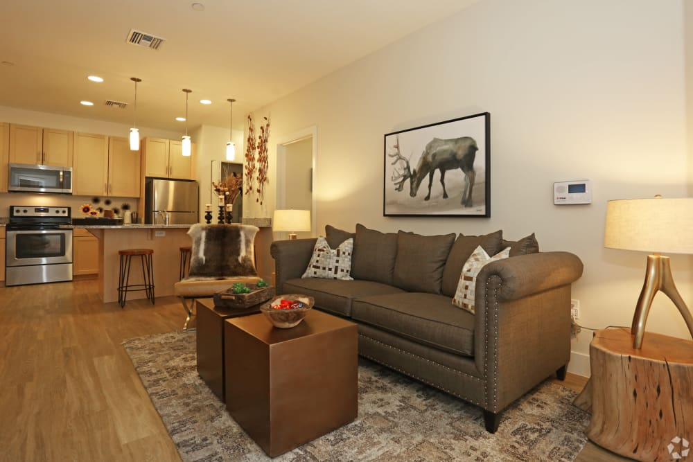 Large resident living room at Mountain Trail in Flagstaff, Arizona
