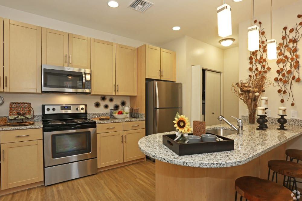 Open kitchen floor plans at Mountain Trail in Flagstaff, Arizona