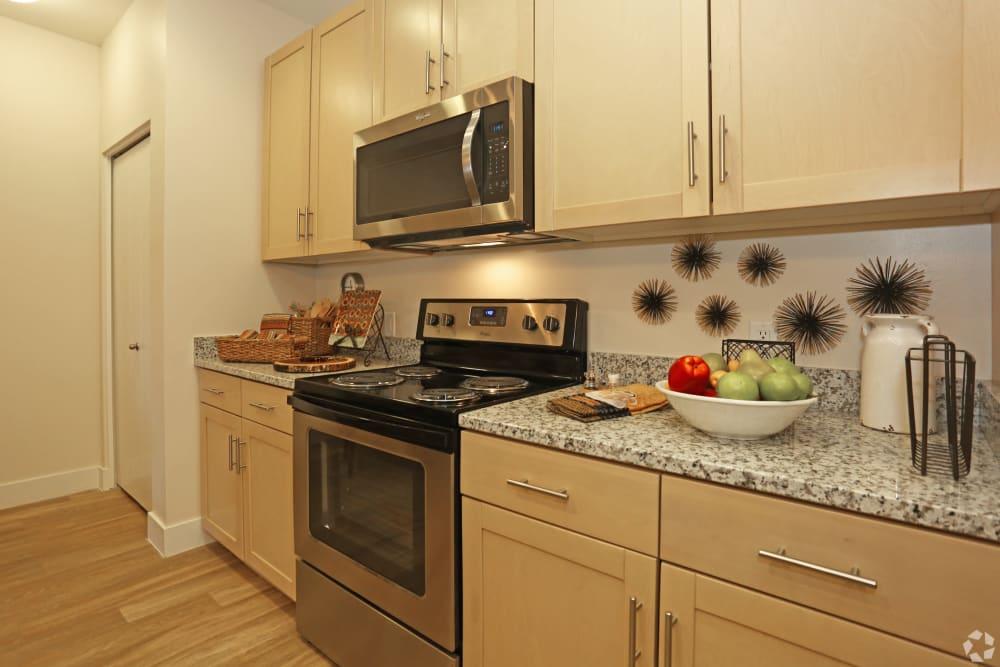 Resident kitchen at Mountain Trail in Flagstaff, Arizona
