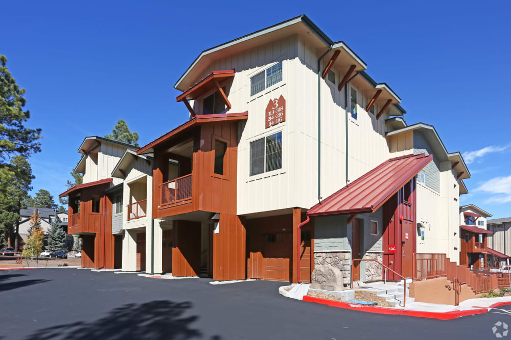 Exterior of main building at Mountain Trail in Flagstaff, Arizona