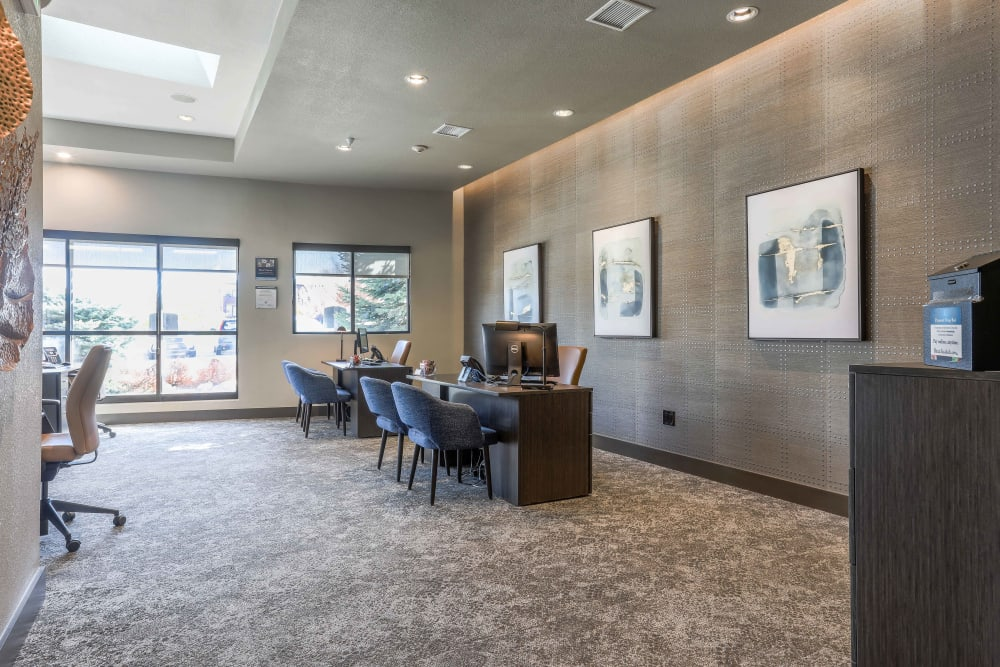 Leasing office at Summit at Flatirons Apartments in Broomfield, Colorado