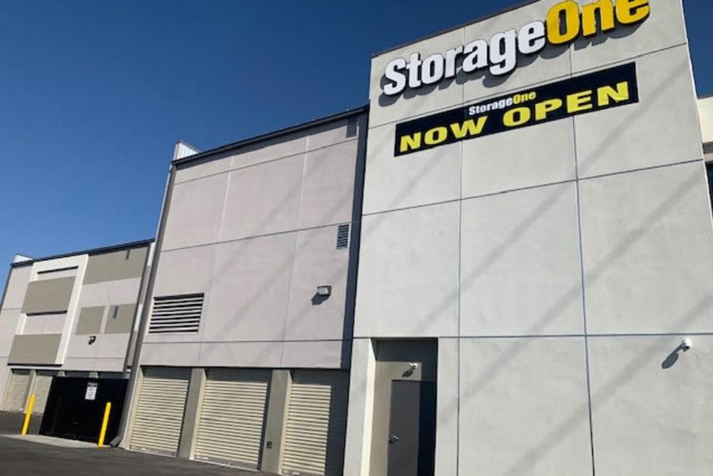 An exterior view of StorageOne Blue Diamond & Buffalo in Las Vegas, Nevada