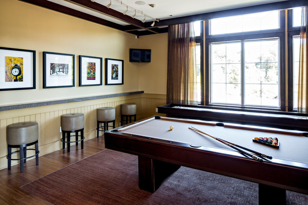 Billiards room at The Grove Somerset in Somerset, New Jersey