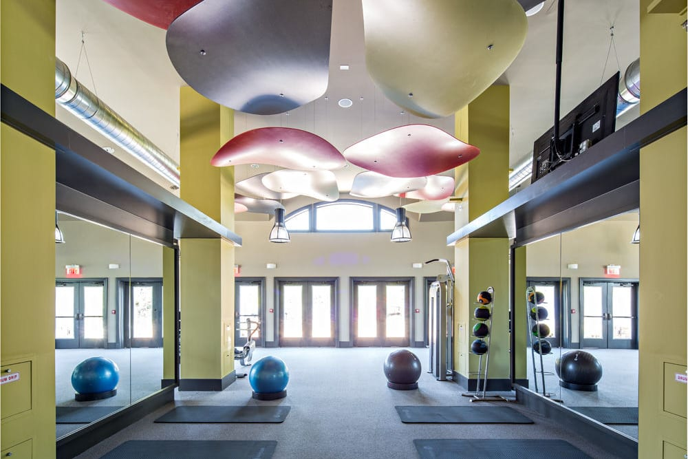 Yoga room at The Grove Somerset in Somerset, New Jersey
