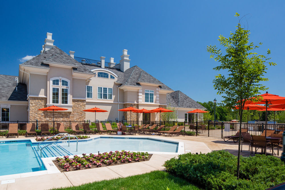 Swimming pool at The Grove Somerset in Somerset, New Jersey