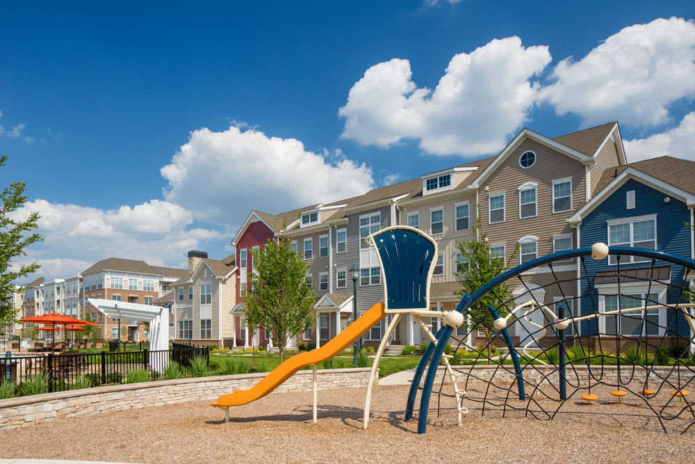 Playground with slide at The Grove Somerset in Somerset, New Jersey