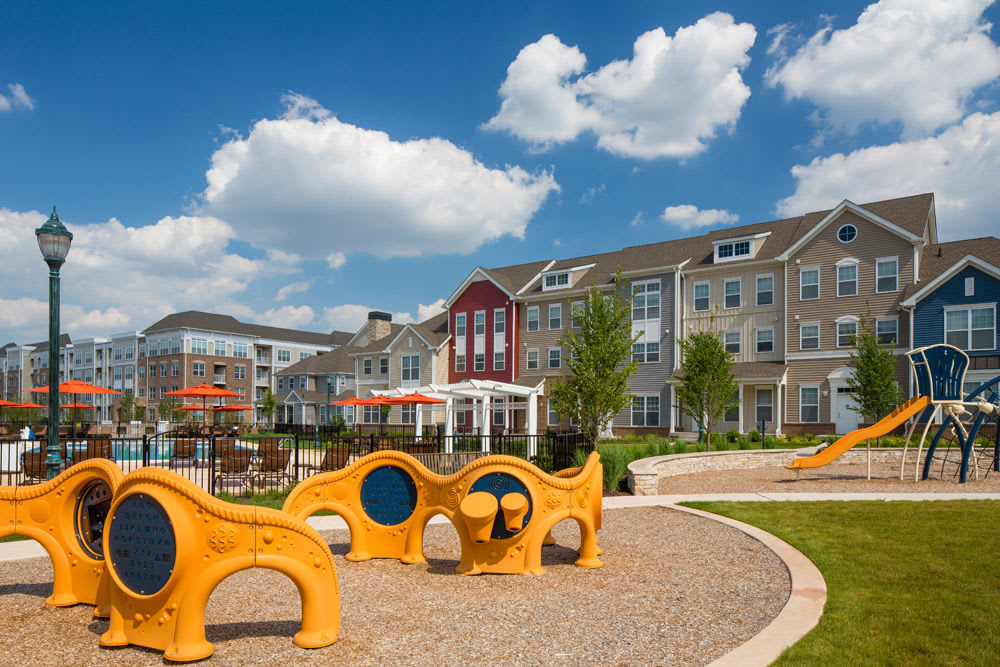 Playground for kids at The Grove Somerset in Somerset, New Jersey