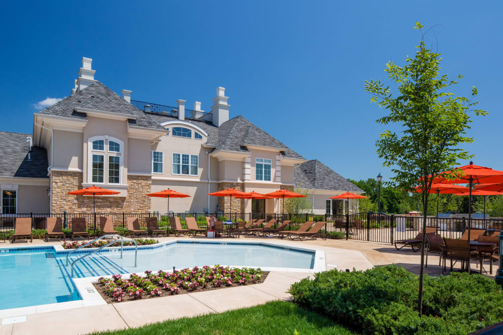 Luxurious swimming pool at The Grove Somerset in Somerset, New Jersey