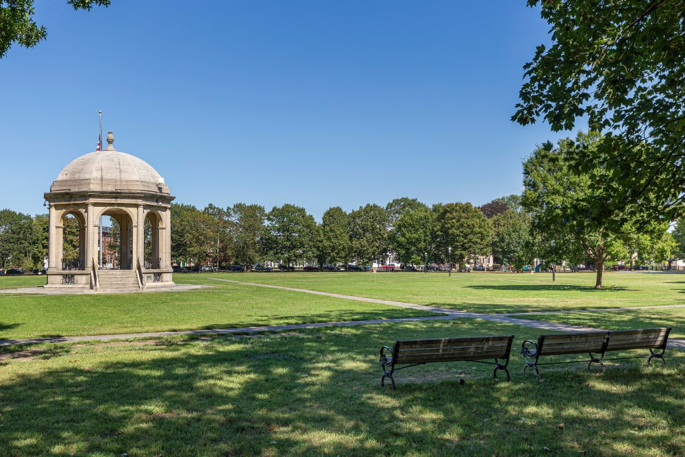 Huge park to enjoy on a lovely clear day near Sofi at Salem Station in Salem, Massachusetts