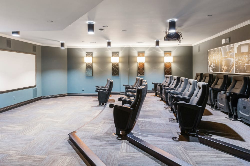 Amazing movie theater room at Sofi at Salem Station in Salem, Massachusetts