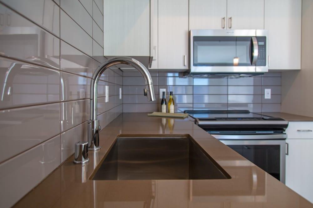 Kitchen sink at The Verge in Auburn, Washington