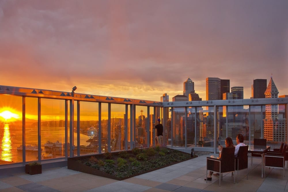 Rooftop view at The Wave in Seattle, Washington