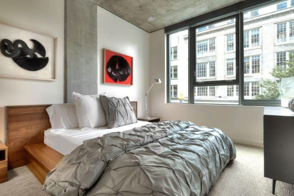 Cozy bedroom at The Nolo in Seattle, Washington