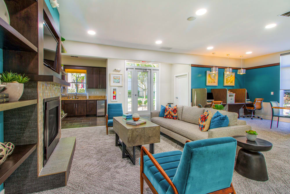Clubhouse with business center at The Reserve at Ballenger Creek Apartments in Frederick , Maryland