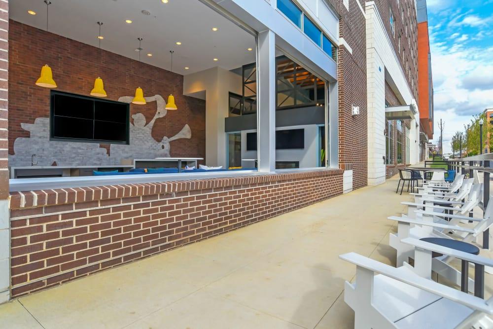 Courtyard study at UNCOMMON Auburn in Auburn, Alabama