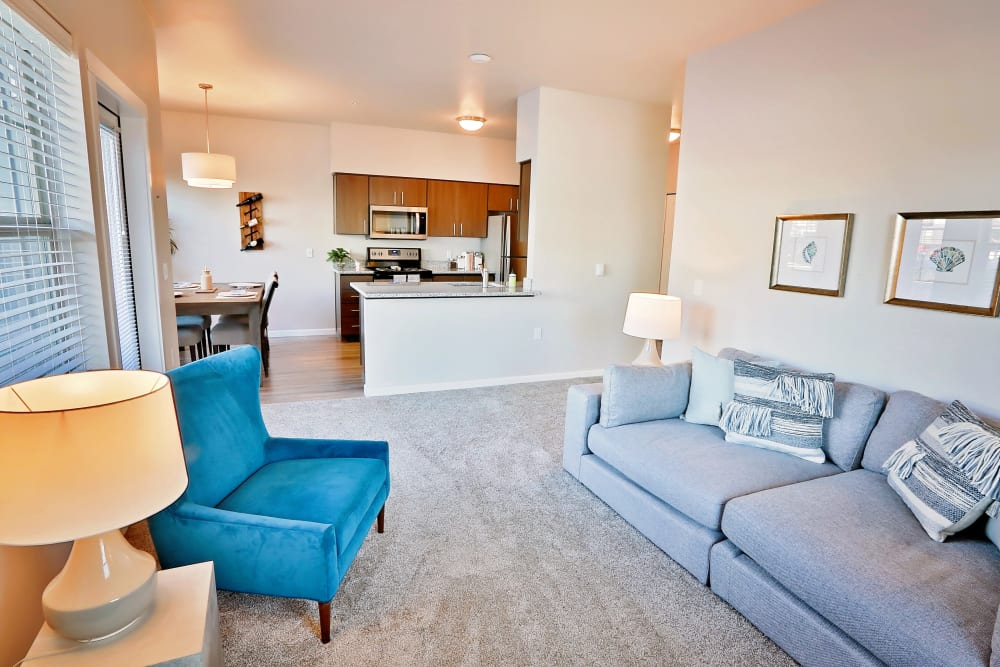 Living area at The Boulevard in Philomath, Oregon