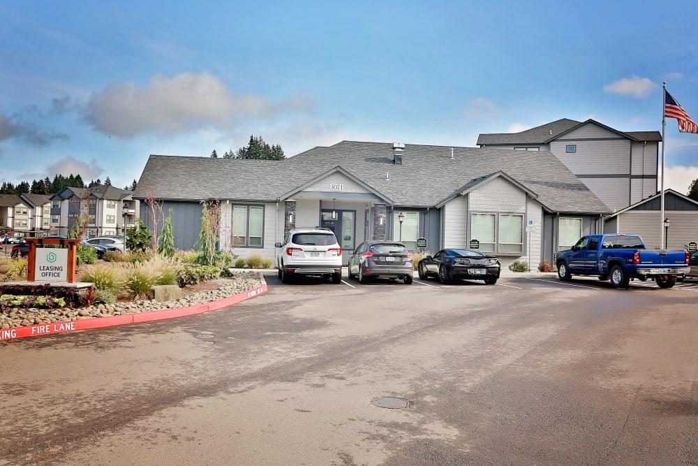 apartment building in The Boulevard in Philomath, Oregon