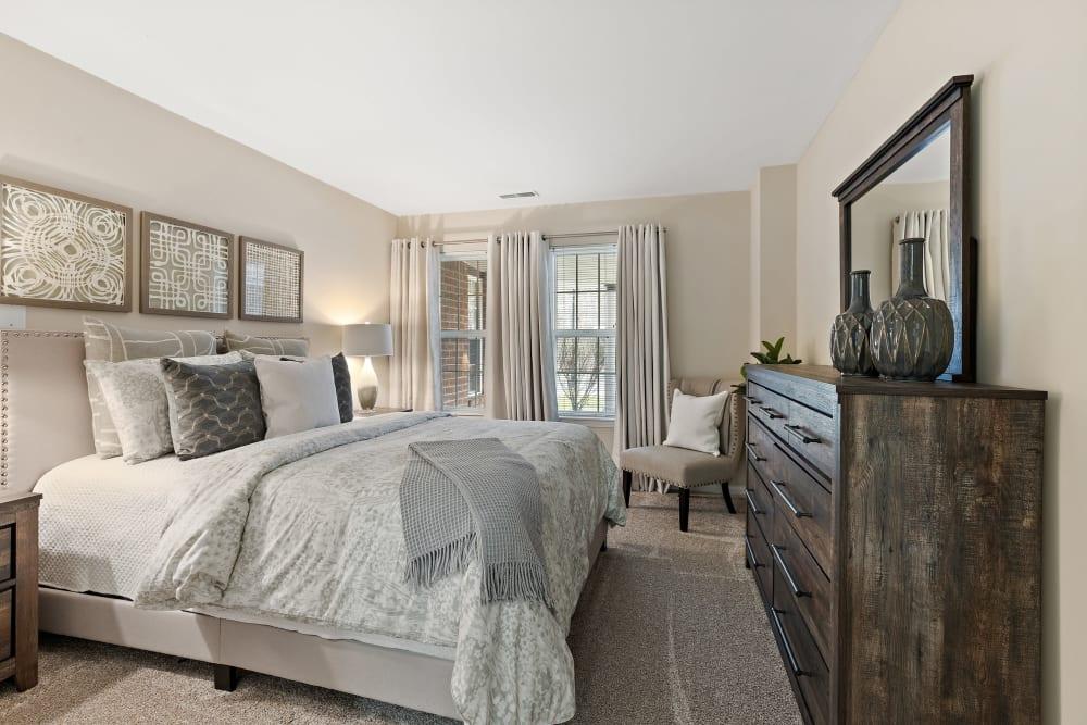 Bedroom at Waltonwood Cherry Hill in Canton, MI