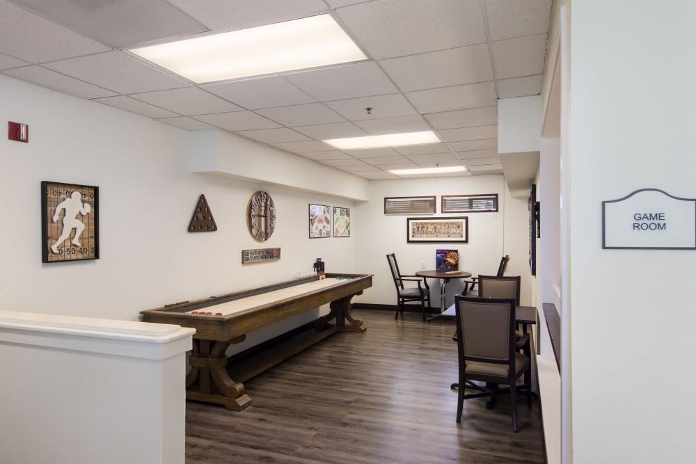 A game room at Sheldon Park in Eugene, Oregon.