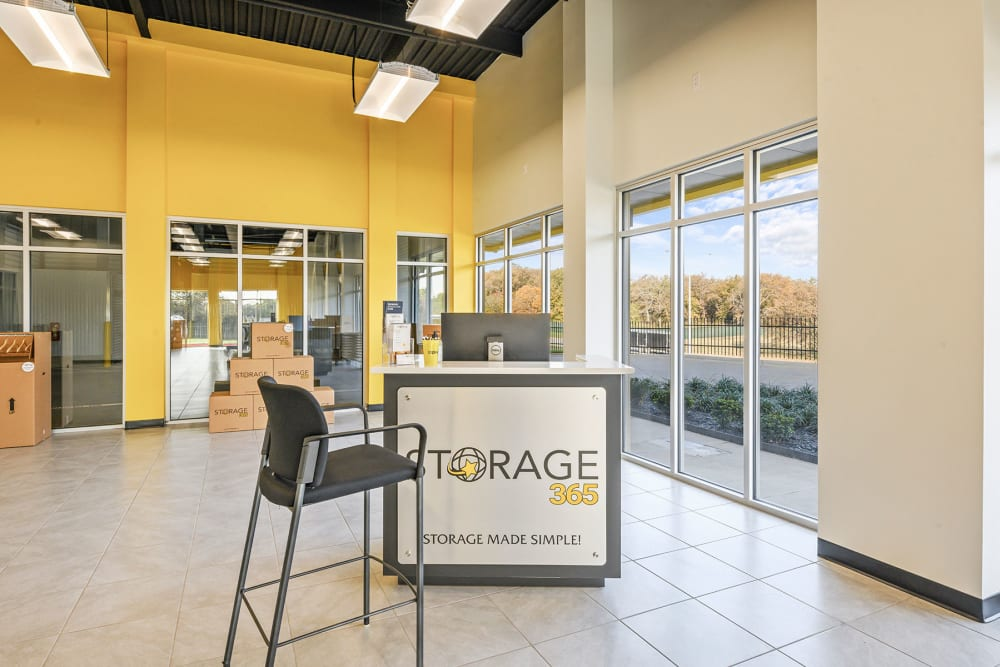 Front office at Storage 365 in Euless, Texas