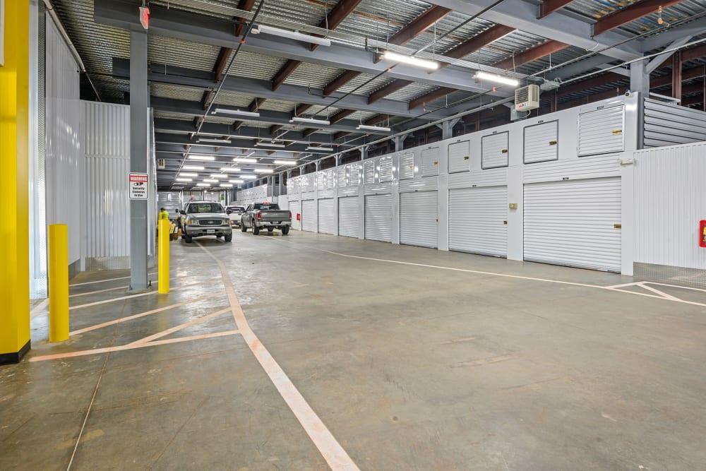 Storage 365's  indoor storage area in Euless, Texas