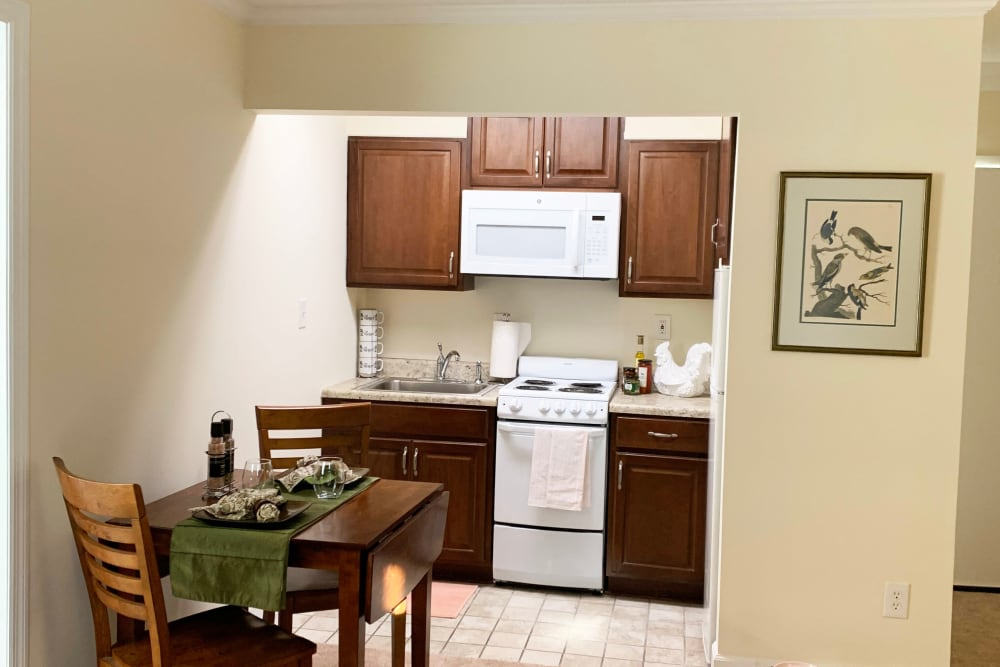 view of kitchen and dining room