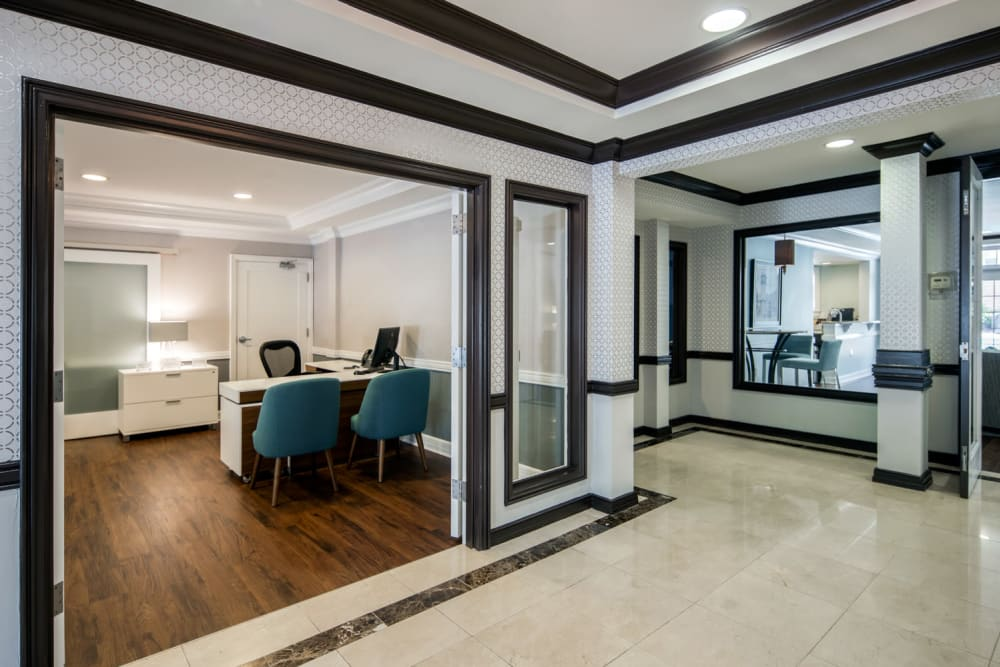 Semi-private meeting rooms at Sofi Gaslight Commons in South Orange, New Jersey