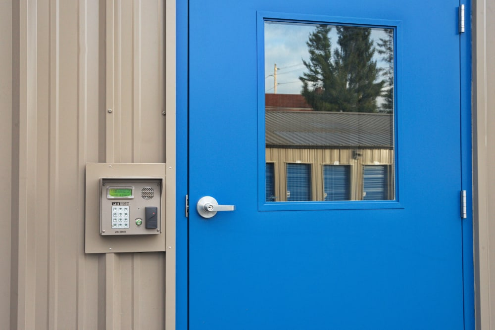 Secured keypad access at Urban Storage on Bennett in Bellingham, WA